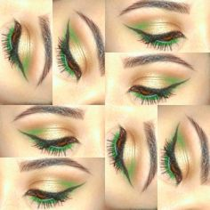 Green and gold look