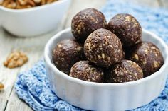 Nutrisystem provides a recipe for the chocolatey treat of your dreams with this guilt-free yet decadent Chocolate Cherry Bliss Balls recipe. Decadent Chocolate, Chocolate Cherry, Craving Chocolate, Love Food, A Food, Food And Drink, Dog Food Recipes, Dessert Recipes, Desserts