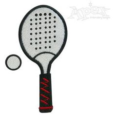Sports Table Tennis Ping Pong Paddle Embroidery Design Size: 3""