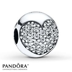 Complete MY Bracelet!! Pandora Clip CZ Love of My Life Sterling Silver