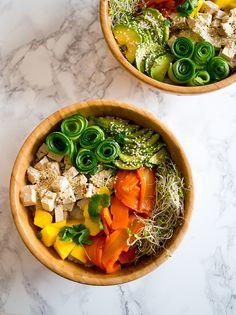 Porkkala tofu poke bowl - täydellistä foodprep ruokaa!