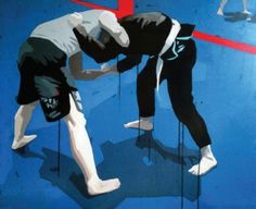 Zbigniew Sikora, 'BJJ IV', 100x100 cm, oil on canvas, 2013