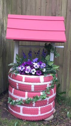 44 creative container gardening flowers ideas decorations 22 is part of Tire garden - 44 creative container gardening flowers ideas decorations 22 Related Tire Garden, Garden Yard Ideas, Diy Garden Projects, Garden Crafts, Diy Garden Decor, Garden Art, Garden Design, Tire Craft, Deco Floral