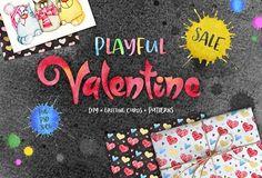 Valentine's Day Graphics Set by Eva-Katerina on @creativemarket