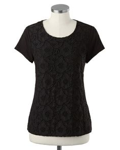lush lace tee | layering piece... lace detail kicks a basic up a notch--don't settle for plain jane basics