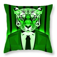 Tiger Throw Pillow by Filip Aleksandrov