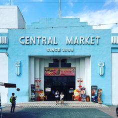 #kualalumpur's #CentralMarket started in 1888 but the #artdeco building that stands today was built in 1935. it was almost demolished in the early 1980's but fortunately was ultimately saved. #architecture #blue #travel #southeastasia #asia #20thcentury #modern #modernism