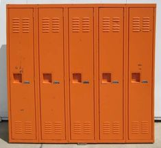I had an orange locker in high school!