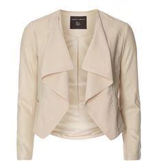 Dorothy Perkins Blush Waterfall Jacket (€29) ❤ liked on Polyvore featuring outerwear, jackets, blazers, coats, pink, pink jacket, waterfall blazer, pink blazer, dorothy perkins and waterfall jacket