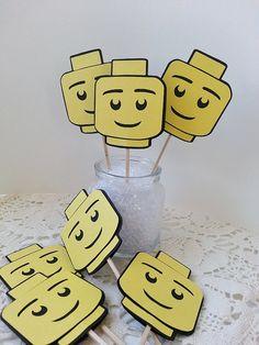 Lego Inspired - Cupcake Topper