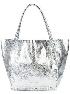 $1095.0. PROENZA SCHOULER Handbag Xl Tote #proenzaschouler #handbag #tote #leather #bags Black Pumps, Proenza Schouler, Smooth Leather, Purses And Handbags, Bucket Bag, Crossbody Bag, Metallic, Leather Bags
