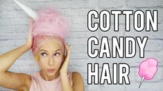 DIY Cotton Candy Hair Costume Candy Costumes, Easy Halloween Costumes, Diy Costumes, Cotton Candy Halloween Costume, Sister Costumes, Creative Costumes, Halloween Crafts, Cotton Candy Makeup, Cotton Candy Hair