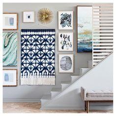 "Shibori Wall Tapestry 59"" X 36.5""- Blue - Threshold"