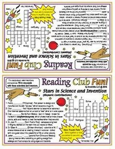 HISPANIC STARS IN SCIENCE & INVENTION - Learn about prominent Hispanic Americans in science, research, and invention with this crossword puzzle! (This puzzle pal style allows students to work together or to see who can finish first, then help the other.)