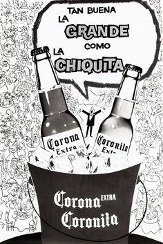 El tamaño no importa, aparentemente. | 29 Fotos de la cerveza Corona que te enseñarán lo mucho que ha cambiado México