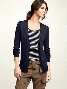 I have a cardigan on/around my waist most days, just in case. Love GAP's tall sizes.