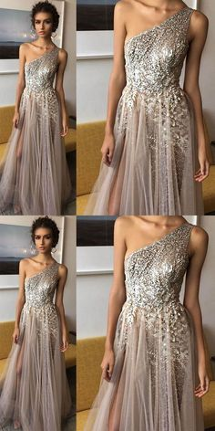 New Arrival Prom Dress,One Shoulder Shinning Side Split Elegant Long Prom Dresses, Shop plus-sized prom dresses for curvy figures and plus-size party dresses. Ball gowns for prom in plus sizes and short plus-sized prom dresses for Elegant Dresses, Beautiful Dresses, Formal Dresses, Dresses Dresses, Split Prom Dresses, Long Dresses, Dress First, New Dress, Bridesmaid Dresses