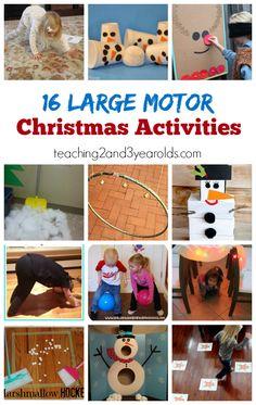 16 Large Motor Christmas Activities