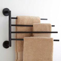 Towel Holder Bathroom, Bathroom Towels, Bathroom Storage, Towel Holders, Bathroom Ideas, Bathroom Towel Storage, Bathroom Wall, Bath Towels, Shower Ideas