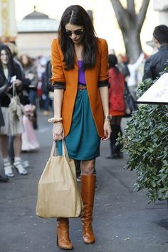 Milan Fashion Week Street Style by TinyCarmen- if only I could pull colors together like this