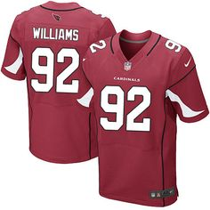elite dan williams mens jersey arizona cardinals 92 home red nike nfl