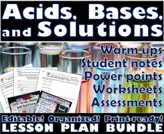 33 best msrazz chemclass resources images on pinterest physical lesson plan bundle acids bases and solutions fandeluxe Images