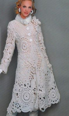 Precioso abrigo de crochet