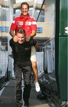 Michael Schumacher + David Coulthard