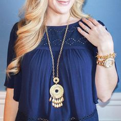 Headed to a Trunk Show today? Glittering gold accessories are the perfect finishing touch! stelladotstyle by @outfitted411
