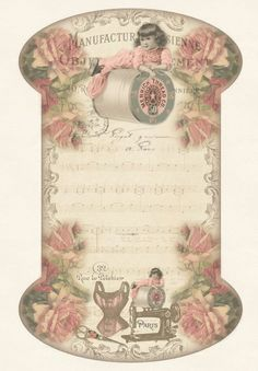 Antique Trade Card For Merrick Thread Co.