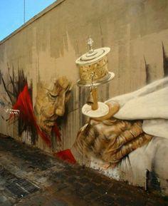 Tibet on the Berlin Wall.