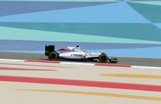 #19 Felipe Massa...Williams Martini Racing...Williams FW38...Motor Mercedes PU106C V6 t h 1.6...GP Bahrein 2016