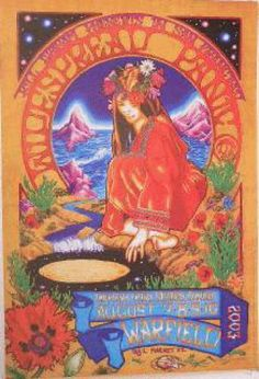 Original concert poster for Widespread Panic at The Warfield in San Francisco.  Art by Josh Hunter. 13x19 card stock. BGP305
