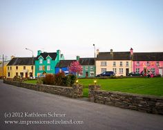 """Items similar to Ireland Art Photography - - """"Rainbow of Houses"""" Irish Fine Art Print Colorful, Sneem, County Kerry on Etsy Great Places, Places Ive Been, Places To Travel, Places To Go, Destinations, Dream Trips, Cottages By The Sea, County Cork, Emerald Isle"""