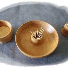 Coupelle apéritif spéciale olives en bois tourné