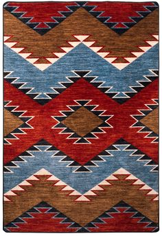 American Dakota Trader Rugs Heritage Area Rug - This Brown rug is an excellent choice for your home. Surfergirl Style, Tapete Floral, Southwestern Area Rugs, Southwestern Bedding, Southwestern Style, Navajo Rugs, Navajo Art, Navajo Weaving, Native American Design