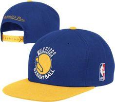 Golden State Warriors Mitchell & Ness XL Logo 2 Tone Snapback Blue and Gold Hat - http://bignbastore.com/nba-hats/golden-state-warriors-mitchell-ness-xl-logo-2-tone-snapback-blue-and-gold-hat