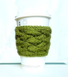 Dress up your drink and keep your fingers from getting fried with the Woven Cable Coffee Cozy. This attractive coffee sleeve pattern is a fun way to use up excess yarn while creating a unique accessory for your morning cup o' joe.