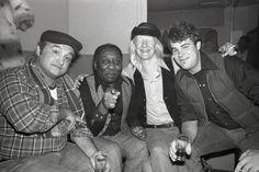 John Belushi, Muddy Waters, Johnny Winter and Dan Aykroyd