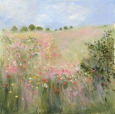 Sue Fenlon Poppies in a summer meadow