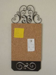 This is an amazing item for people who are trying to be more organized in 2015! This corkboard is 12 inches tall and 9 1/2 inches wide. It can hold all of those business cards, postcards, save the date announcements, receipts, photos, stamps, sticky notes, grocery lists, etc.... The list just goes on and on! Thumb tacks work perfect!