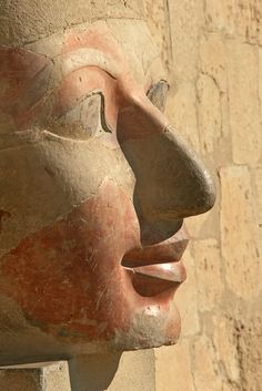 Hatshepsut's face - Temple of Hatshepsut - Luxor, Egypt - Creative Commons License Ray Euden