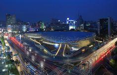 DDP(Dongdaemun Design Plaza) at night, Seoul, Korea