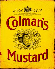 Colman`S Mustard Large Metal Retro Aluminium Tin Sign Vintage Ad Shabby Chic` Vintage Food Posters, Vintage Advertising Posters, Vintage Art Prints, Vintage Labels, Vintage Advertisements, Vintage Ads, Advertising Signs, Posters Uk, Poster Prints