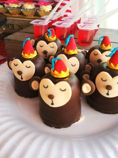 Monkey treats from Vintage Classic Circus Birthday Party at Kara's Party Ideas. See more at karaspartyideas.com!