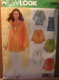 Tunic Top Pattern Uncut New Look Simplicity 6485 by creekyattic, $5.00