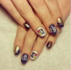 Vernis à ongles Nail art Harry Potter