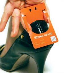 Desain Kartu Nama Unik tidak Biasa | shoes scoop business card