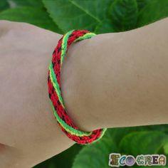 Pulsera Kumihimo Cute Patilla Watermelon Brazelete de la Amistad Friendship Bracelet de ECOCREA en Etsy
