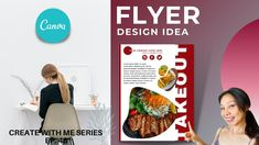 CREATE WITH ME - EASY MINIMALIST CANVA POSTER DESIGN TUTORIAL FOR BEGINNERS Flyer And Poster Design, Restaurant Flyer, Design Tutorials, The Creator, Minimalist, Canvas, Create, Easy, Tela